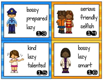 Character Traits Mini Posters and Activities