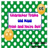 Character Trait Old Maid Game ~ ELA CCSS Center Activity ~ 3rd, 4th, 5th, ESL