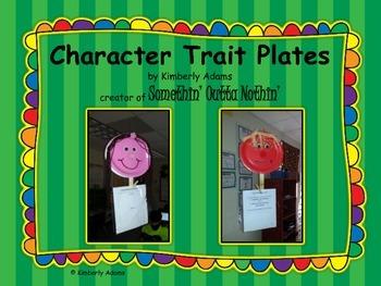 Character Trait Plates