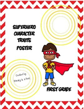 Character Trait Poster First Grade Words