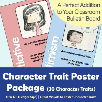 """Character Trait Poster Package (10 Character Traits) (11"""" X 17"""")"""