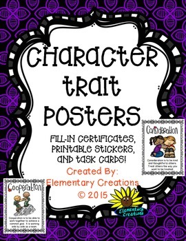 Character Trait Poster and More!