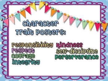 Character Trait Posters - Polka Dot
