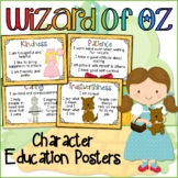 Character Trait Posters: Wizard of Oz Classroom