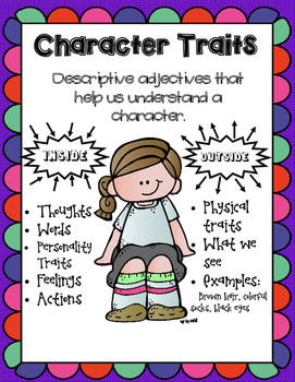 Character Trait Posters and Officer Buckle and Gloria Craftivity