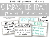 Character Trait Posters with Shiplap Background