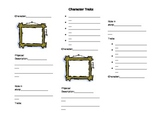 Character Trait Printable with Picture Frames