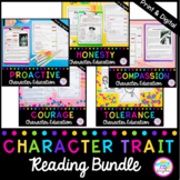 Character Trait Reading GROWING Bundle with Google Slides Distance Learning