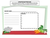 Character Trait Recipe Card