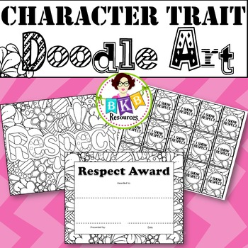 Character Trait - Respect - Doodle Coloring