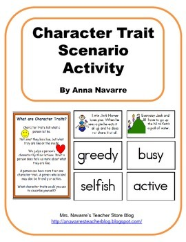 Character Trait Scenario Activity