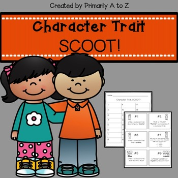 Character Trait Scoot Review Game