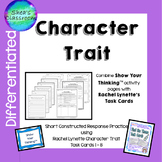 Character Trait Constructed Response Practice-Show Your Th