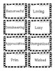 Character Trait Skit Cards and Differentiated Trait Lists