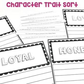 Character Traits Sort