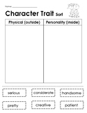 Character Trait Sort - Differentiated