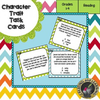 Character Trait Task Cards
