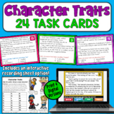 Character Traits Task Cards with Digital Option
