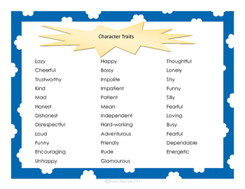 Character Trait Task Cards, Activities, and Assessment