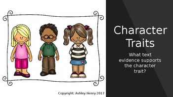 Character Trait Text Evidence