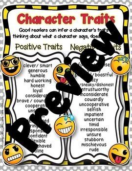 Character Trait Texting 3rd Grade RL3.3 4th Grade RL4.3
