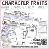 Character Trait Tools: Journal Inserts, GO, & Bookmark