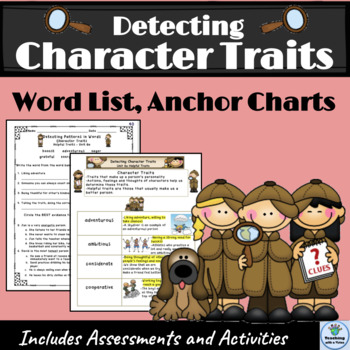 Character Trait Unit of Study  Vocabulary/Spelling
