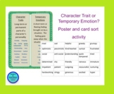 Character Trait VS Temporary Emotion- Poster, mini-lesson, sorting