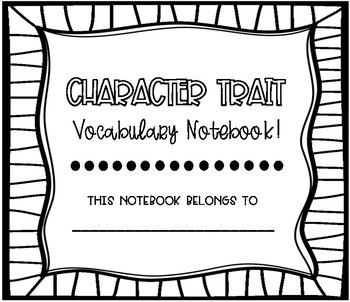Character Trait Vocabulary Cards!