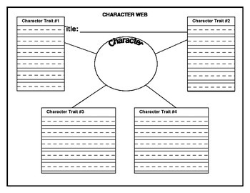 Character Trait Web (with lines)