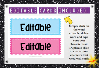 Character Trait Word Wall Cards