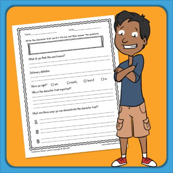 Character Traits - No Prep Printables for Character Education