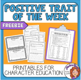 Character Traits - Print or Easel Activity for Character E