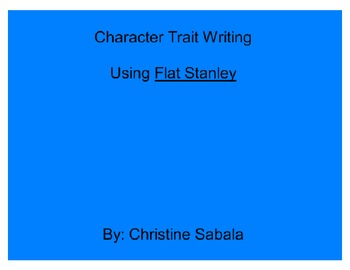 Character Trait Writing - Mimio