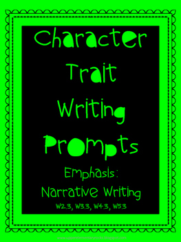 Character Trait Writing Prompts