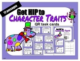 Character Trait QR task cards - 12 passages