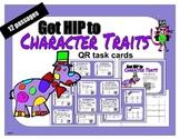 Character Trait QR task cards - 12 passages