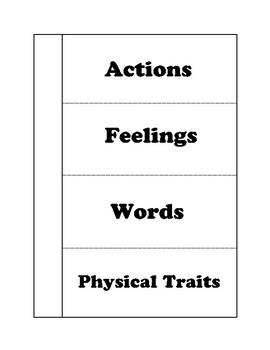 Character Trait foldable