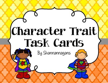Character Trait or Character Education Task Cards