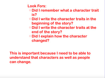 Character Trait's Changes