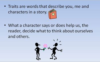Character Traits Mini Lesson Power Point Presentation