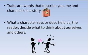Character Traits Mini Lesson Power Point Presentation