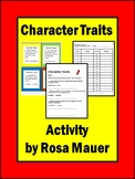 Character Traits Task Cards Resource Teach or Review