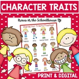 Character Traits and Feelings - Graphic Organizers, Poster