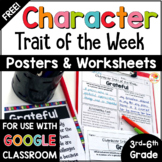 Character Traits Graphic Organizer FREE: Character Trait of the Week