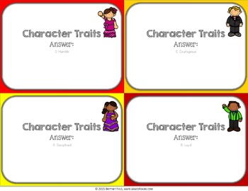 Character Traits Activity: Identifying Character Traits Reading Game