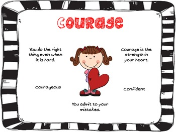 Character Traits 2- perseverance, self-discipline, courage, and integrity