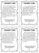Character Traits Task Cards to Build Vocabulary - Requires Citing Evidence