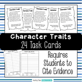 Character Traits Task Cards to Build Vocabulary - Requires