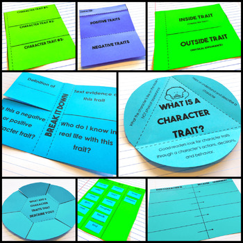 Character Traits - Reading Interactive Notebook